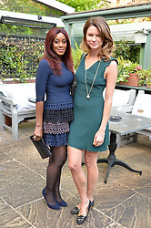 Left to right, PHOEBE HITCHCOX and GABRIELLA PEACOCK at a party to celebrate 'A Year In The Garden' celebrating the first year of The Ivy Chelsea Garden, 197 King's Road, London on 16th May 2016.