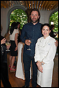 NIKLAS EKSTEDT; ELENA ARZAK, Veuve Clicquot World's Best Female chef champagne tea party. Halkin Hotel. Halkin St. London SW1. 28 April 2014.