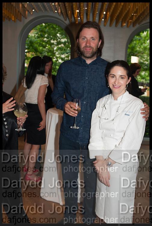 NIKLAS EKSTEDT; ELENA ARZAK, Veuve Clicquot World's Best Female chef champagne tea party. Halkin Hotel. Halkin St. London SW1. 28 April 2014.