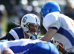 31.07.2010, Commerzbank Arena, Frankfurt, GER, Football EM 2010, Game for Place 5, Team Great Britain vs Team Finland, im Bild Miro Kadmiry, (Team Finland, QB, #1) gibt das Kommando fuer den Snap,  EXPA Pictures © 2010, PhotoCredit: EXPA/ T. Haumer / SPORTIDA PHOTO AGENCY