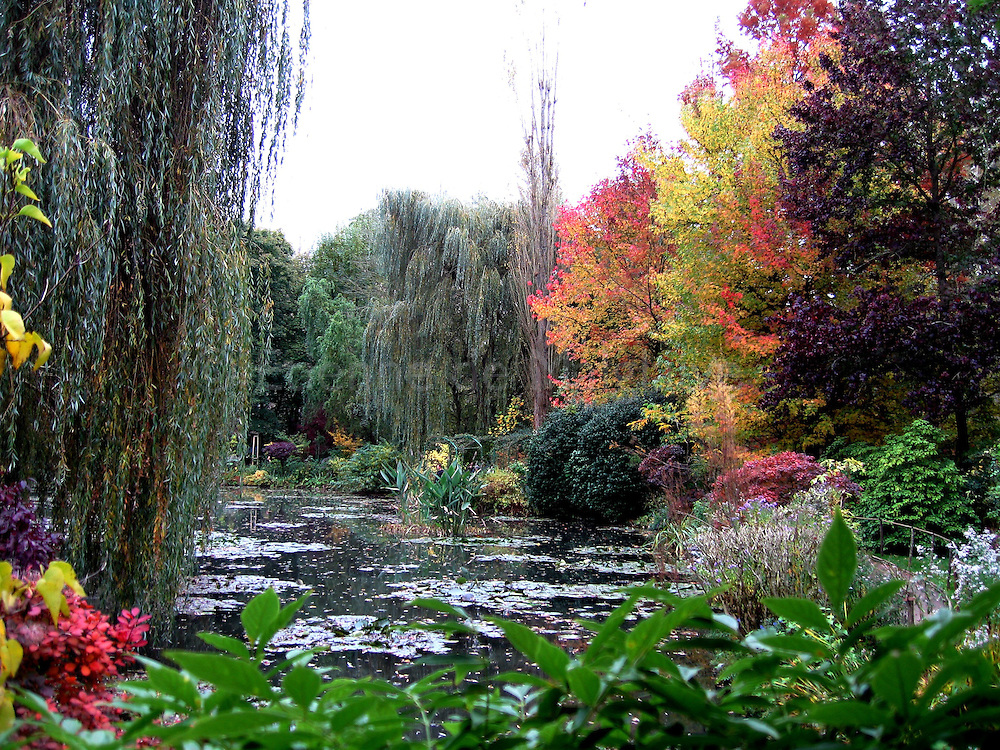 Bassin des Nympheas at Claude Monet garden in Giverny, France, October 2008.
