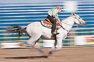 Junior barrel racing, Airdrie Rodeo, Airdrie, Alberta, Canada