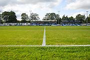 A general view of the ground before the Pre-Season Friendly match between Guiseley  and Leeds United at Nethermoor Park, Guiseley, United Kingdom on 11 July 2019.