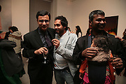 Rajit Dutta, Riyas Komu and Irana G.R., Other,Riyas Komu and Peter Drake. - VIP  launch of Aicon. London's largest contemporary Indian art gallery. Heddon st. and afterwards ant Momo.15 Marc h 2007.  -DO NOT ARCHIVE-© Copyright Photograph by Dafydd Jones. 248 Clapham Rd. London SW9 0PZ. Tel 0207 820 0771. www.dafjones.com.