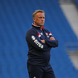 Cheltenham Town's Manager Mark Yates during the English Capital One Cup 1st Round between Brighton & Hove Albion FC and Cheltenham Town FC at the American Express Community Stadium, Brighton, 12th August 2014 © Phil Duncan | SportPix.org.uk