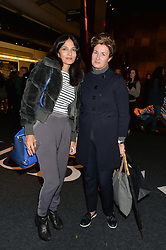 Left to right, YASMIN MILLS and ALEX FOULKES at the PAD London 2014 VIP evening held in the PAD Pavilion, Berkeley Square, London on 14th October 2014.