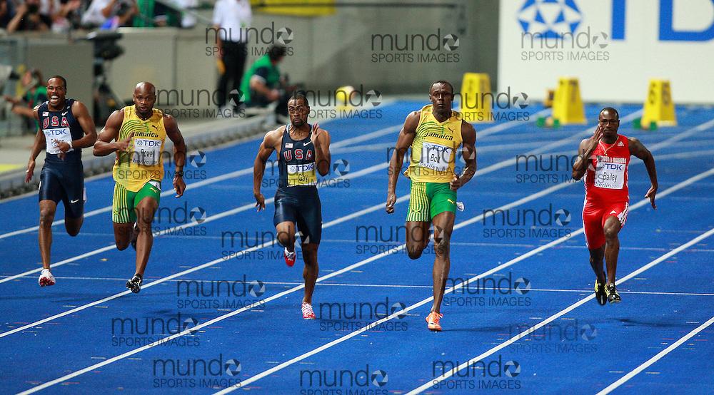 Berlin 2009 World Championships - August 16 - Day 2 - Evening *** Local Caption *** Usain Bolt - 100m Final Gold WR 9.58 Jamaica
