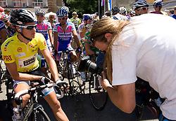 Jakob Fuglsang (DEN) of Team Saxo Bank  before the start of 2nd stage of Tour de Slovenie 2009 from Kamnik to Ljubljana, 146 km, on June 19 2009, Slovenia. (Photo by Vid Ponikvar / Sportida)
