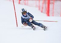 Gunstock Ski Club's Gus Pitou 2nd run of the alpine ski race for j6, j5, j4, j3.  Gunstock Mountain Resort January 8, 2012.