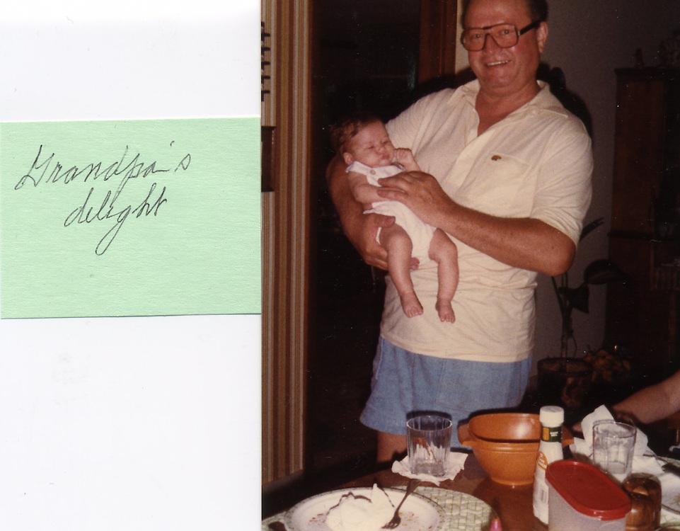 Grandpa and baby Caroline