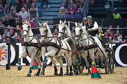 Dobrovitz Jozsef, HUN, Incitato Pandur, Kiskedves, Platon, Pottom<br /> FEI World Cup Driving Leg presented by Dodson & Horrell<br /> Olympia Horse Show -London 2016<br /> © Hippo Foto - Jon Stroud<br /> 16/12/16
