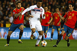 March 23, 2019 - Valencia, Community of Valencia, Spain - Norway's Joshua King and Spain's Inigo Martinez seen in action during the Qualifiers - Group B to Euro 2020 football match between Spain and Norway in Valencia, Spain. Spain beat Norway, 2-1 (Credit Image: © Manu Reino/SOPA Images via ZUMA Wire)