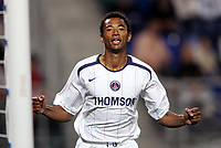 FOOTBALL - FRENCH CHAMPIONSHIP 2005/2006 - FC SOCHAUX v PARIS SG - 06/08/2006 - JOY EDOUARD CISSE (PSG) AFTER HIS GOAL - PHOTO ERIC BRETAGNON / Digitalsport<br /> nORWAY ONLY
