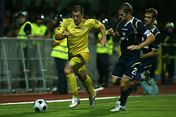 Joze Benko  (8) of Domzale at 1st football game of 2nd Qualifying Round for UEFA Champions league between NK Domzale vs HNK Dinamo Zagreb, on July 30, 2008, in Domzale, Slovenia. Dinamo won 3:0. (Photo by Vid Ponikvar / Sportal Images)