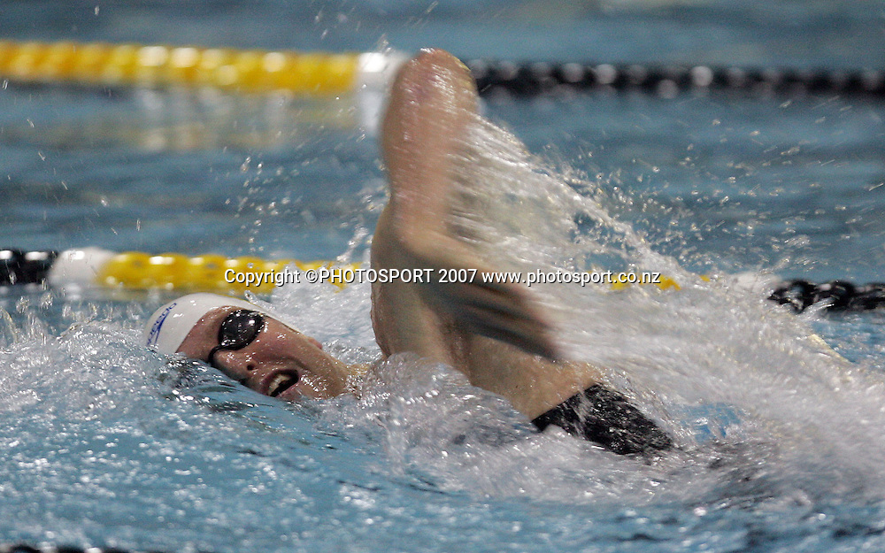 Robert Voss. New Zealand Swimming Spring Competition. Wellington Regional Aquatic Centre, Wellington, New Zealand. Tuesday 25 September 2007. Photo: Hagen Hopkins/PHOTOSPORT