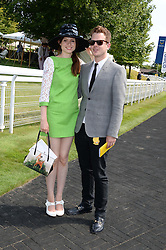 SOPHIE ELLIS-BEXTOR and RICHARD JONES at the 3rd day of the 2013 Glorious Goodwood racing festival - Ladies day at Goodwood Racecourse, West Sussex on 1st August 2013.