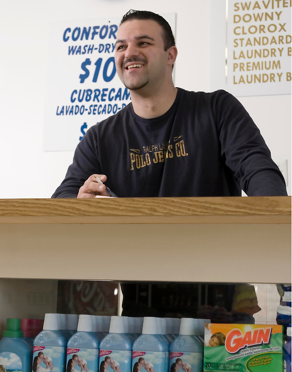 Danny Santos, owner of Laundromat Center in Kearny, NJ.