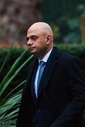 London, February 3rd 2015. Members of the cabinet gather at Downing Street for their weekly meeting. PICTURED: Sajid Javid, Secretary of State for Culture, Media and Sport