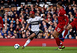 LONDON, ENGLAND - Sunday, March 17, 2019: Fulham's Ryan Babel during the FA Premier League match between Fulham FC and Liverpool FC at Craven Cottage. (Pic by David Rawcliffe/Propaganda)