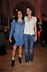 Left to right, LAUREN KEMP and YASMIN MILLS at the TOD'S Art Plus Drama Party at the Whitechapel Gallery, London on 24th March 2011.