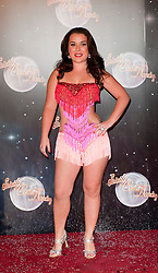 Actress Dani Harmer joins fellow Contestants as they line up for this years Strictly Come Dancing television show on BBC. Contestants will include Olympic medalist Victoria Pendleton, Tuesday September 11, 2012.Photo Andrew Parsons/i-Images