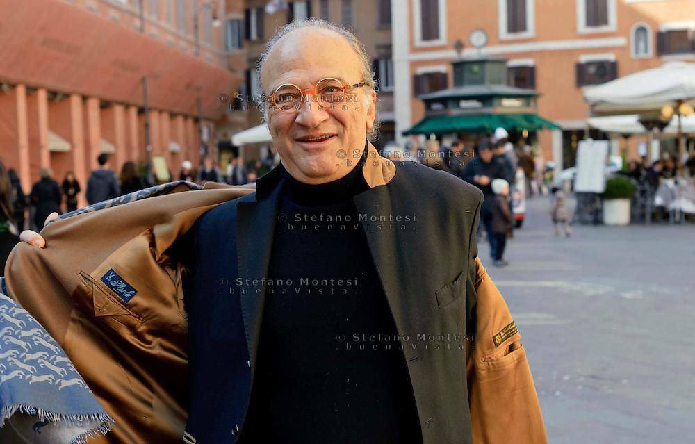 Roma 16 Febbraio  2013.Il principe Domenico Orsini, presenta la sua candidatura  a sindaco di Roma in piazza San Lorenzo in Lucina...