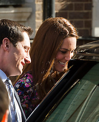 © London News Pictures. 02/03/2015. London, UK. Catherine, Duchess of Cambridge leaving The Goring Hotel in Victoria, London on March 2, 2015. The Duchess has visited The Goring hotel in the past to attend board meetings for the 1851 trust and also stayed there before her wedding.  Photo credit: Ben Cawthra/LNP
