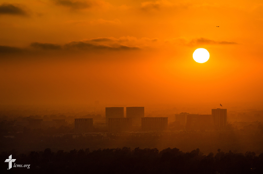 The sun sets over Irvine, Calif., on Tuesday, July 8, 2014. LCMS Communications/Erik M. Lunsford