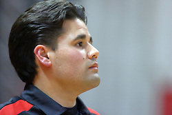 07 September 2011: Assistant Coach BJ Trame during an NCAA volleyball match between the Leathernecks of Western Illinois  and the Illinois State Redbirds at Redbird Arena in Normal Illinois.