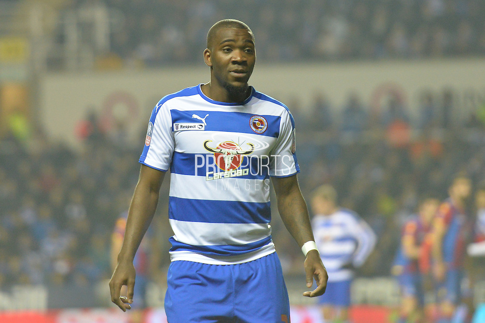 Reading FC striker Ola John during the The FA Cup Quarter Final match between Reading and Crystal Palace at the Madejski Stadium, Reading, England on 11 March 2016. Photo by Mark Davies.