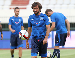 11.06.2015, Stadion Poljud, Split, CRO, UEFA Euro 2016 Qualifikation, Kroatien vs Italien, Gruppe H, Training Italien, im Bild Andrea Pirlo // during training of Team Italy prior to the UEFA EURO 2016 qualifier group H match between Croatia and and Italy at the Stadion Poljud in Split, Croatia on 2015/06/11. EXPA Pictures © 2015, PhotoCredit: EXPA/ Pixsell/ Ivo Cagalj<br /> <br /> *****ATTENTION - for AUT, SLO, SUI, SWE, ITA, FRA only*****