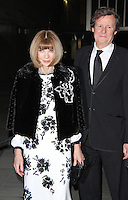 Anna Wintour & David Hare, Fast Forward - NT Fundraising Gala, National Theatre, London UK, 04 March 2015, Photo By Brett D. Cove