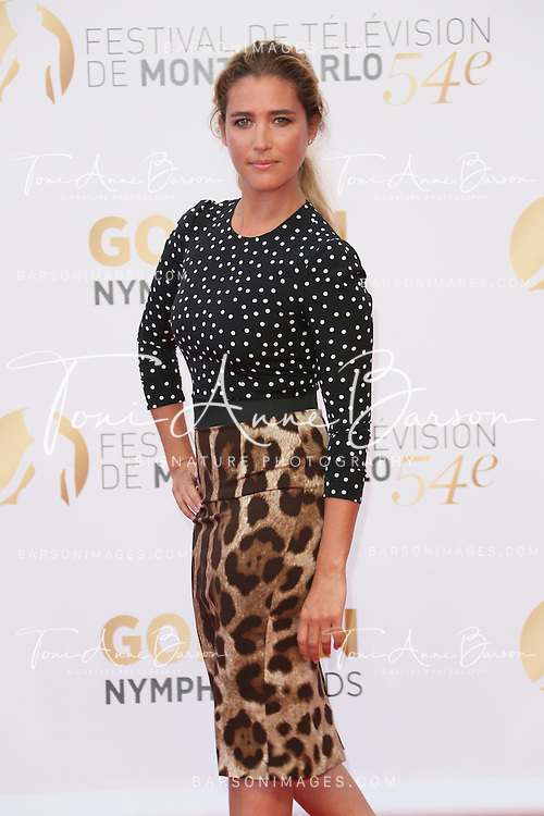 MONTE-CARLO, MONACO - JUNE 11:  Vahina Giocante attends the Closing Ceremony and Golden Nymph Awards of the 54th Monte Carlo TV Festival on June 11, 2014 in Monte-Carlo, Monaco.  (Photo by Tony Barson/FilmMagic)