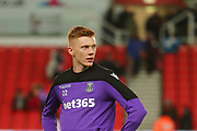 Stoke City's Sam Clucas (22) warms up during the EFL Sky Bet Championship match between Stoke City and Derby County at the Bet365 Stadium, Stoke-on-Trent, England on 28 November 2018.