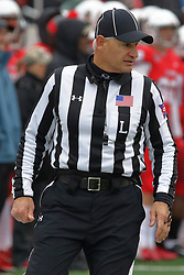 NORMAL, IL - November 17: Line Judge: Denis Schinderl during a college football game between the ISU (Illinois State University) Redbirds and the Youngstown State Penguins on November 17 2018 at Hancock Stadium in Normal, IL. (Photo by Alan Look)