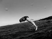 A diver at High Rock, Portmarnock, Co. Dublin, Ireland, August 2004.