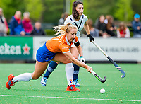 BLOEMENDAAL -   Fee Schreuder (Bldaal)  , Libera hoofdklasse hockey Bloemendaal-Pinoke (0-0). COPYRIGHT KOEN SUYK