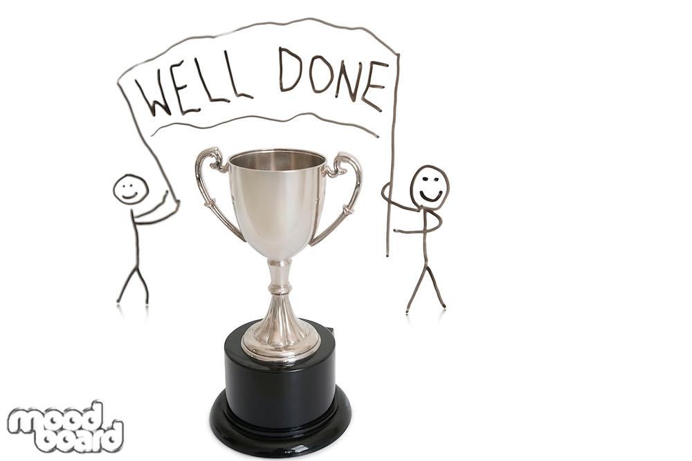 Award for winning over white background