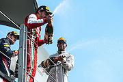 June 7-9, 2013 : Canadian Grand Prix. Fernando Alonso, Ferrari, Lewis Hamilton, Mercedes, Sebastian Vettel, Red Bull/Renault