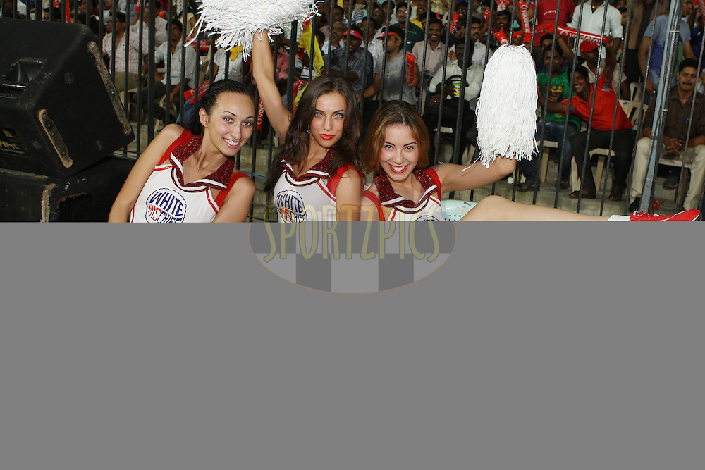 White Mischief dancers during the second Qualifying match of the Indian Premier League ( IPL) 2012  between The Chennai Superkings and the Delhi Daredevils held at the M. A. Chidambaram Stadium, Chennai on the 25th May 2012..Photo by Jacques Rossouw/IPL/SPORTZPICS