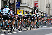 Team MTN-Qhubeka during the London Stage of the Aviva Tour of Britain, Regent Street, London, United Kingdom on 13 September 2015. Photo by Ellie Hoad.