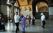visitors at Hagia Sophia
