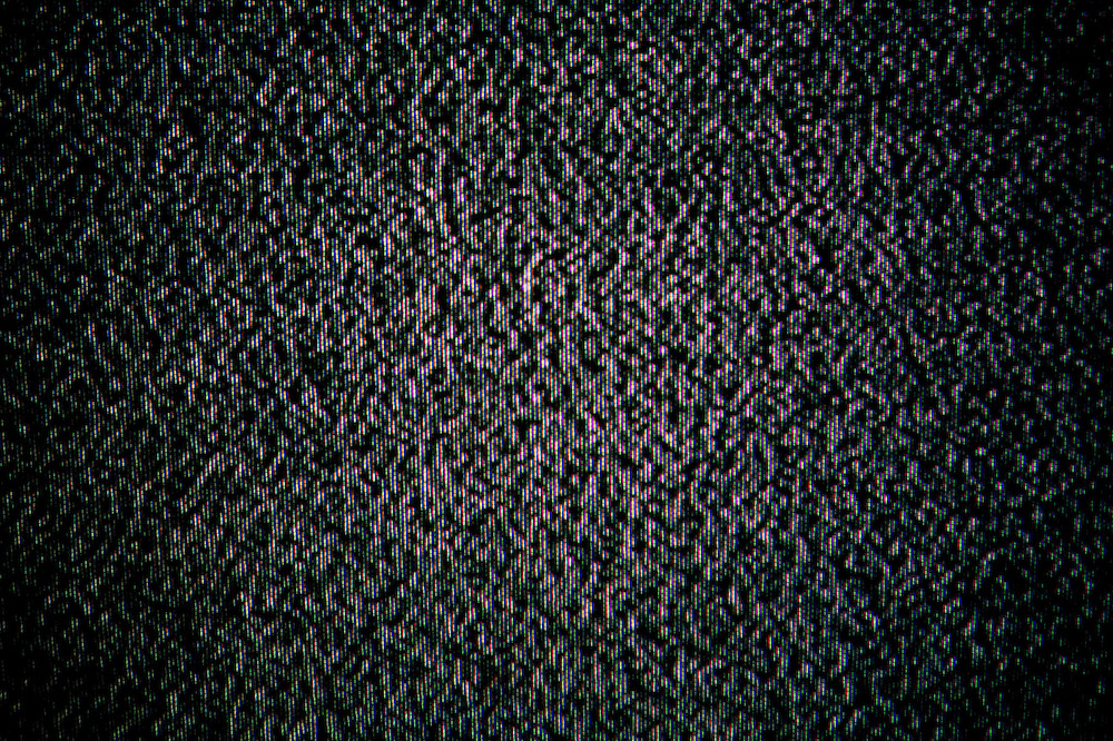 Estática del televisor.