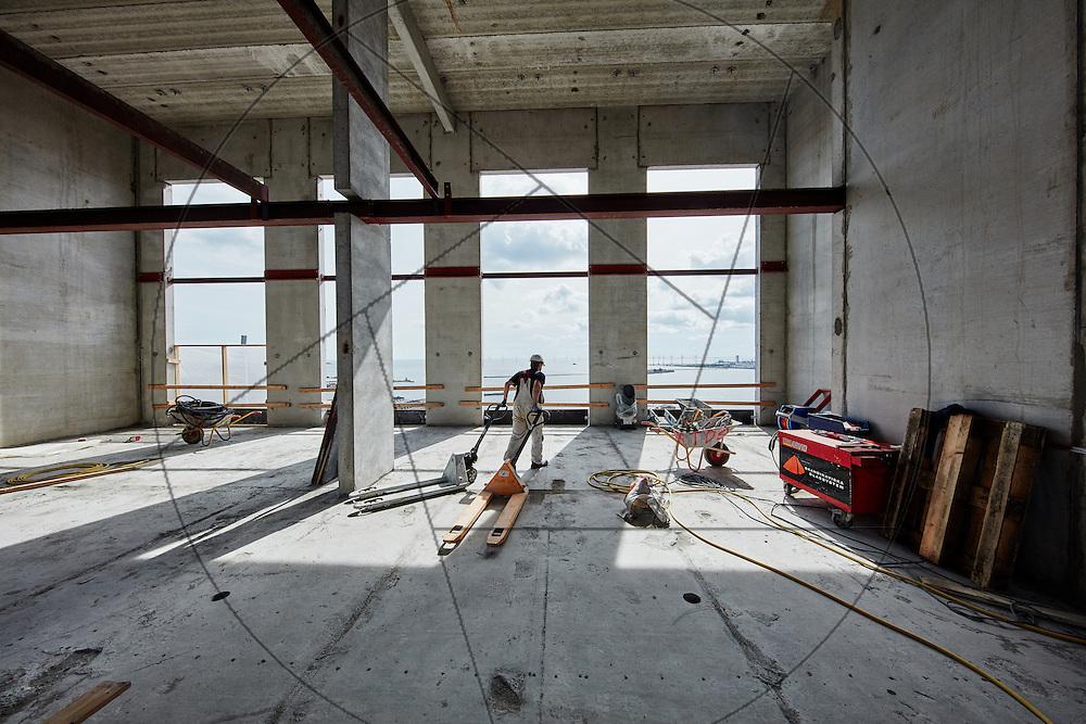 DLG-siloen Nordhavn, UNIONkul, ombygning af kornsilo til luksuslejligheder, Klaus Kastbjerg, , interiør, råhus, betonvægge