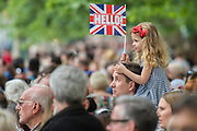 Queens 90th birthday was celebrated by the tradition Trooping the Colour as well as a flotilla on the river Thames.