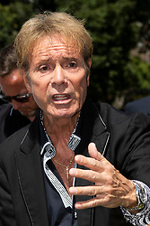 © Licensed to London News Pictures. 01/07/2019. London, UK. Sir Cliff Richard attends a campaign event in Westminster organised by the FAIR group. The group is launching a parliamentary petition calling for those suspected of sexual offences to be given anonymity until they are charged unless there are exceptional circumstances.  Photo credit: George Cracknell Wright/LNP