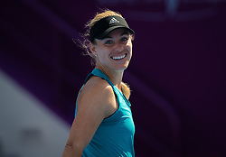February 9, 2019 - Doha, QATAR - Angelique Kerber of Germany during practice ahead of the 2019 Qatar Total Open WTA Premier tennis tournament (Credit Image: © AFP7 via ZUMA Wire)