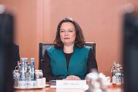 27 SEP 2017, BERLIN/GERMANY:<br /> Andrea Nahles, SPD, Bundesarbeitsministerin und designierte SPD Fraktionsvorsitzende, vor Beginn der Kabinettsitzung, Bundeskanzleramt<br /> IMAGE: 20170927-01-010<br /> KEYWORDS: Kabinett, Sitzung