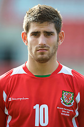 WREXHAM, WALES - Saturday, October 10, 2009: Wales' Ched Evans  before the UEFA Under-21 Championship Qualifying Round Group 3 match against Bosnia-Herzegovina at the Racecourse Ground. (Pic by Chris Brunskill/Propaganda)
