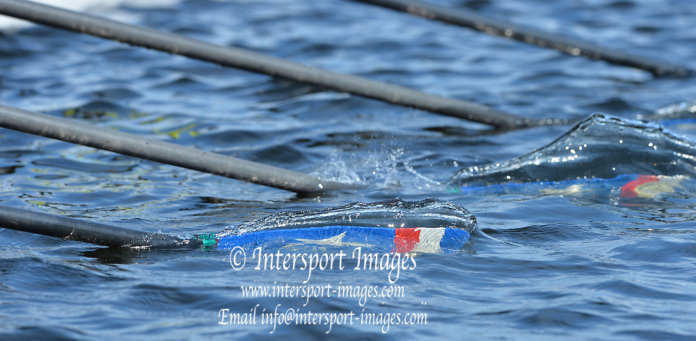 Hamburg. GERMANY.   Costa Rica quad of the start. 2014 FISA Junior World rowing. Championships.  15:41:56  Wednesday  06/08/2014  [Mandatory Credit; Peter Spurrier/Intersport-images]